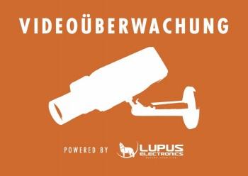 LUPUS Aufkleber Achtung Videoueberwachung