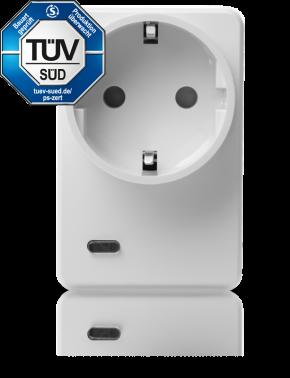 LUPUSEC - V2 Funksteckdose mit Stromzähler und ZigBee Repeater       Lautstarke Abschreckung!     Der smarte Schaltgehilfe für Zuhause: Die Funksteckdose mit Stromzähler und ZigBee Repeater.  Morgens vor dem Aufstehen die Kaffeemaschine einschalten. Abends zur Sicherheit ein beleuchtetes Zuhause, auch wenn Sie gar nicht daheim sind: Mit der LUPUSEC - Funksteckdose mit Stromzähler und ZigBee Repeater lassen sich elektrische Geräte, wie Lampen, Kaffemaschine oder Radio ganz einfach in Ihre Haussteuerung integrieren. Die Anwendungsmöglichkeiten sind vielfältig: So können Sie zum Beispiel die Steckdose so konfigurieren, dass die daran angeschlossenen Verbraucher (z.B. Stand-by Geräte) bei Scharfschaltung der Alarmanlage stromlos geschaltet werden und bei Deaktivierung der Alarmanlage wieder mit Strom versorgt werden. Durch diese Smart-Home-Funktionen spart Ihre Immobilie während ihrer Abwesenheit intelligent Strom. Außerdem ist es möglich, die Steckdose von der Ferne beispielsweise mit Ihrem Smartphone zu aktivieren / deaktivieren.     Verbrauchsanzeige - einfach Smart!         Energieverbrauch und Kosten stets im Blick:  Der schlaue Schaltgehilfe macht Ihr Zuhause komfortabler, sicherer und auch sparsamer: Per Knopfdruck unterbricht der Zwischenstecker die Stromzufuhr und spart damit intelligent Energie und Kosten. Diese haben Sie stets im Blick, denn die Funksteckdose sendet den Verbrauch aller angeschlossenen Geräte an die Zentrale. Hier sehen Sie den aktuellen Verbrauch, sowie eine Hochrechnung der Kosten für die Woche, den Monat oder das Jahr.           Verstärkt Ihre ZigBee Sensoren!         Repeaterfunktion inklusive!  Zusätzlich zu denen bereits erwähnten Funktionen dient diese Funksteckdose als Repeater für alle ZigBee S Sensoren. In Reihe geschaltet können Sie die Reichweite von bis zu 10 Sensoren pro Steckdose enorm erhöhen (siehe FAQ).