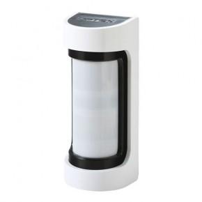 Optex VXS-DAM PIR Aussenbewegungsmelder IR 12m batteriebetrieben mit Microwave Funktion  Drahtloser Doppel-Infrarotmelder für Außen mit Anti-Masking, IP 55, Reichweite 12 m  Der VXS-DAM ist ein netzteil betriebener Bewegungsmelder. Er wird mit einem individuellen Funksender ausgestattet, um dann in Hersteller unabhängigen Funk-Einbruchmeldeanlagen, oder auch in jeder konventionellen EMA über Universalsender / Empfänger zu arbeiten. Das im Lieferumfang enthaltene Backboxgehäuse bietet in der Regel genügend Platz für den Sender und für die Batterien. In seiner Basis entspricht dieser Sensor dem VXS-AM. Er wird in Verbindung mit einer LUPUSEC Alarmanlage eingesetzt. Als Verbindung hierzu ist ein drahtloser Sensoreingang erforderlich. Der VXS-DAM ist im Gegensatz zum VXS-AM mit einer Mikrowellentechnologie ausgetstattet, dh. hier findet eine Dual Way Messung statt.  Zur Anbindung an die LUPUSEC Alarmanlage benötigen Sie einen drahtlosen Sensoreingang (12020) oder bei der XT3 in den Zentraleneingang .