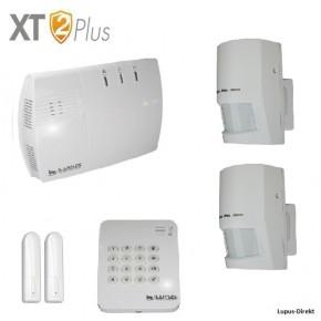 LUPUSEC XT2 Plus Comfort Starter Pack  Das LUPUSEC XT2 Plus Comfort Starter Pack bestehend aus der  1 x XT2 Plus Zentrale 2 x Türkontakten V2 2 x Dual Way Bewegungsmelder 1 x Keypad V2,  das einfache, sichere IP-FunkalarmsystemLUPUS-Electronics praesentiert die neue LUPUSEC-XT2:Das EINFACHE und SICHERE IP-Funkalarmsystem! Schnell einzurichten, einfach zu bedienen und ueberall jederzeit zugriffsbereit -ganz einfachper Computer, Tablet oder Smartphone. Die LUPUSEC-XT2 ist ein wahres Wunderwerk der Bedienungsfreundlichkeit und Flexibilitaet.Das Herzstueck dieses neu entwickelten Alarmsystems ist die lediglich 180 x 155 x 43mm grosse Alarmzentrale, die einfach per Netzwerkkabel mit Ihrem Router verbunden wird. Ueber die revolutionaer uebersichtliche Benutzeroberflaeche der LUPUSEC-XT2 koennen Sie von ueberall mit Ihrem Computer, Tablet oder Smartphone auf alle Funktionen und Einstellungen Ihrer Alarmanlage zugreifen. Sie moechten unterwegsden Alarmstatus kontrollieren?Oderdas Alarmsystem an- oder ausschalten?Oder einfach nur kontrollieren, ob alle Tueren und Fenster geschlossen sind? Kein Problem, ein Blick auf z.B. Ihr Smartphone genuegt und Sie koennen in Ruhe weiter Ihren Tag geniessen. Fuer das LUPUSEC-XT2 Alarmsystem ist eine grosse Anzahl von Alarmsensoren erhaeltlich. So koennen Sie Tuer- und Fenstersensoren, Bewegungsmelder, Videoueberwachung, Glasbruch-, Rauch- und Feuermelder, Gas- und Wasserdetektoren oder Temperatursensoren mit wenigen Klicks mit Ihrer Alarmanlage verbinden. Alle Sensoren sind durch ein hochentwickeltes Funksystem mit der Alarmanlage verbunden und alarmieren zuverlaessig, sobald sich der Status eines Sensors aendert. Das heisst auch, dass Sie keine Kabel fuer Strom oder Signale verlegen muessen. Einfach die Zentrale mit Ihrem Router verbinden und die Batterie-betriebenen Sensoren am gewuenschten Ort anbringen und mit der Zentrale verbinden. Alarme koennen per Email, SMS oder den weltweiten Notrufzentralen-Standard CONTACT ID uebermittelt wer