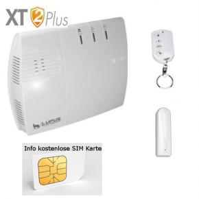 LUPUSEC - XT2 Plus Einsteiger 1 Alarmanlagenpaket  DasLUPUSEC - XT2 Plus Einsteiger 1 Alarmanlagenpaket bestehend aus der XT2 Plus Zentrale, 1 Türkontakt V2, 1 Fernbedienung V3 .  Wir bieten hier ein günstiges Einsteigerpaket an, welches es erlaubt, die Einganstür und ein zusätzliched Fenster / Tür abzusichern. Zusätzlich mit der Fernbedienung wird die Aktivierung und Deaktivierung der Alarmzentrale ermöglicht. Basierend auf diesem Paket können Sie sich zusätzliche Melder hinzufügen, um Ihren individuellen Bedarf nachzukommen. Auch hier gilt , bei Erwerb der Anlage erhalten Sie die Information, wo Sie eine kostenlose SIM Karte erhalten, damit Ihre Alarmanlage bei Stromausfall, keinem Internet , trotzdem die Daten per eMail, SMS Gateway oder zu Ihrem Handy APP ( LUPUSEC) kommunziert. Einfach grandios oder ?  LUPUSEC XT2 Plus Einsteiger 1 , das einfache, sichere IP-FunkalarmsystemLUPUS-Electronics praesentiert die neue LUPUSEC-XT2. Schnell einzurichten, einfach zu bedienen und ueberall jederzeit zugriffsbereit -ganz einfachper Computer, Tablet oder Smartphone. Die LUPUSEC-XT2 ist ein wahres Wunderwerk der Bedienungsfreundlichkeit und Flexibilitaet.Das Herzstueck dieses neu entwickelten Alarmsystems ist die lediglich 180 x 155 x 43mm grosse Alarmzentrale, die einfach per Netzwerkkabel mit Ihrem Router verbunden wird. Ueber die revolutionaer uebersichtliche Benutzeroberflaeche der LUPUSEC-XT2 koennen Sie von ueberall mit Ihrem Computer, Tablet oder Smartphone auf alle Funktionen und Einstellungen Ihrer Alarmanlage zugreifen. Sie moechten unterwegsden Alarmstatus kontrollieren?Oderdas Alarmsystem an- oder ausschalten?Oder einfach nur kontrollieren, ob alle Tueren und Fenster geschlossen sind? Kein Problem, ein Blick auf z.B. Ihr Smartphone genuegt und Sie koennen in Ruhe weiter Ihren Tag geniessen. Fuer das LUPUSEC-XT2 Alarmsystem ist eine grosse Anzahl von Alarmsensoren erhaeltlich. So koennen Sie Tuer- und Fenstersensoren, Bewegungsmelder, Videoueberwachung, Glasbruch-