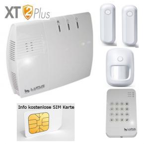 LUPUSEC XT2 V2 Plus Starter Pack  Das LUPUSEC XT2 Plus V2 Starterpack bestehend aus der XT2 Plus Zentrale, 2 V2 Türkontakten, 1 V2 Bewegungsmelder und 1 Keypad V2, das einfache, sichere IP-FunkalarmsystemLUPUS-Electronics praesentiert die neue LUPUSEC-XT2:Das EINFACHE und SICHERE IP-Funkalarmsystem! Schnell einzurichten, einfach zu bedienen und ueberall jederzeit zugriffsbereit -ganz einfachper Computer, Tablet oder Smartphone. Die LUPUSEC-XT2 ist ein wahres Wunderwerk der Bedienungsfreundlichkeit und Flexibilitaet.Das Herzstueck dieses neu entwickelten Alarmsystems ist die lediglich 180 x 155 x 43mm grosse Alarmzentrale, die einfach per Netzwerkkabel mit Ihrem Router verbunden wird. Ueber die revolutionaer uebersichtliche Benutzeroberflaeche der LUPUSEC-XT2 koennen Sie von ueberall mit Ihrem Computer, Tablet oder Smartphone auf alle Funktionen und Einstellungen Ihrer Alarmanlage zugreifen. Sie moechten unterwegsden Alarmstatus kontrollieren?Oderdas Alarmsystem an- oder ausschalten?Oder einfach nur kontrollieren, ob alle Tueren und Fenster geschlossen sind? Kein Problem, ein Blick auf z.B. Ihr Smartphone genuegt und Sie koennen in Ruhe weiter Ihren Tag geniessen. Fuer das LUPUSEC-XT2 Alarmsystem ist eine grosse Anzahl von Alarmsensoren erhaeltlich. So koennen Sie Tuer- und Fenstersensoren, Bewegungsmelder, Videoueberwachung, Glasbruch-, Rauch- und Feuermelder, Gas- und Wasserdetektoren oder Temperatursensoren mit wenigen Klicks mit Ihrer Alarmanlage verbinden. Alle Sensoren sind durch ein hochentwickeltes Funksystem mit der Alarmanlage verbunden und alarmieren zuverlaessig, sobald sich der Status eines Sensors aendert. Das heisst auch, dass Sie keine Kabel fuer Strom oder Signale verlegen muessen. Einfach die Zentrale mit Ihrem Router verbinden und die Batterie-betriebenen Sensoren am gewuenschten Ort anbringen und mit der Zentrale verbinden. Alarme koennen per Email, SMS oder den weltweiten Notrufzentralen-Standard CONTACT ID uebermittelt werden. Haben Sie die ents
