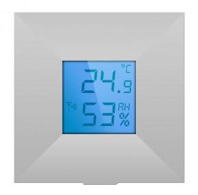 LUPUSEC - V2 Temperatursensor mit Display     Temperaturgesteuert automatisieren!   Mithilfe unserer Temperatursensoren automatisieren Sie Ihre Endgeräte ganz einfach.  Der Temperatursensor mit Display V2 misst die Temperatur und die Luftfeuchtigkeit am Installationsort, zeigt diese an und sendet jede Temperaturänderung alle 10 Minuten direkt an die Zentrale. So können Sie auch von unterwegs jederzeit die Temperatur am Installationsort des Sensors prüfen. Der Temperatursensor ist batteriebetrieben und steht innerhalb der Funkreichweite in Funkkontakt zur Alarmanlage. Kabel zur Signalübertragung oder eine Stromversorgung per Netzteil ist NICHT notwendig. Somit können Sie temperaturabhängig Beschattungen (Rollläden oder Jalousien) steuern, Heizkörperthermostate oder Fussbodenheizungsventile (in Verbindung mit einem Unterputzrelais) öffnen oder schließen, Klimageräte und Lüfter aktivieren. Dadurch sparen Sie nicht nur Heizkosten, sondern genießen auch stets ein angenehm temperiertes zu Hause.