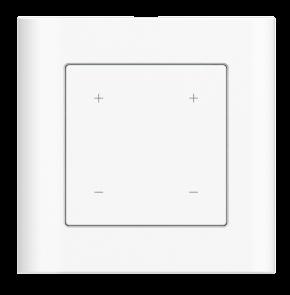 """LUPUSEC - Lichtschalter V2    Integrieren Sie die Beleuchtung Ihrer Räume!   Smarte Beleuchtung! Ganz einfach mit dem LUPUSEC - Lichtschalter V2 Der Lichtschalter ersetzt Ihren vorhandenen Lichtschalter und ermöglich so zusätzlich zur herkömmlichen Bedienung eine Integration in das LUPUSEC Smarthome Alarmsystem. Sie können bis zu zwei Lampen (bzw. zwei Stromkreise) an den Lichtschalter V2 anschließen und diese auch dimmen. Eine horizontale LED-Anzeige informiert über den aktuellen Dimmwert. Die linke Seite des Lichtschalters V2, dient als Dimmer für """"Stromkreis 1"""", mit der rechten Seite können Sie einen 2. Stromkreis bedienen. Einmal mit dem System verbunden, lassen sich alle mit dem jeweiligen Stromkreis verbundenen Verbraucher ein- und ausschalten. Und das nicht nur manuell über den Browser, das Smartphone oder Ihr Tablet, sondern auch automatisiert, zeitgesteuert oder beim Scharf- und Unscharfschalten des Alarmsystems."""