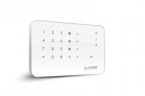 LUPUSEC - Outdoor Keypad V2      Wetterfestes Keypad für den Außenbereich!   Das Keypad ermöglicht eine umfangreiche Steuerung des Smarthome-Alarmsystems  Das LUPUSEC Outdoor Keypad dient der Steuerung der XT2 (Plus Alarmanlage) und wird insbesondere zur Aktivierung und Deaktivierung bei Betreten und Verlassen des Gebäudes verwendet. Hierzu geben Sie entweder einen von fünfzig frei definierbaren PIN-Codes ein oder wischen einfach mit dem persönlichen RFID-Chip über das Keypad.  Der große, sicherungstechnische Vorteil des Outdoor Keypads gegenüber der Innenvariante liegt darin, dass der gesicherte Bereich zum Unscharfschalten nicht betreten werden muss. Somit können Sie auf risikobehaftete Eingangs- und Ausgangsverzögerungen gänzlich verzichten.  Kabel zur Signalübertragung sind nicht notwendig. Das Keypad kann entweder mit Batterien oder dem mitgelieferten 12V Netzteil betrieben werden und ist kinderleicht einzurichten und in kurzer Zeit betriebsbereit.     Große Funktionsvielfalt   Erweiterte Automationsfunktionen:  Das Outdoorkeypad bietet vier frei programmierbare Smarthome-Tasten (F1-F4) mit denen Sie zum Beispiel das Licht aktivieren / deaktivieren, die Heizung beim Verlassen herunterregeln, den Türsummer aktivieren oder komplette Szenarien ausführen können. Der integrierte Alarmausgang startet bei Berührung des Keypads eine Kameraaufnahme oder öffnet die Eingangstür.  Mit dem Keypad können Sie, je nach dem welchen PIN Code Sie verwenden, beide Areas steuern. Die Verwaltung inkl. der mit dem Code oder RFID-Chip verbundenen Benutzerrechte, werden einfach im Webserver der Alarmanlage definiert. Hier können Sie pro Area bis zu 50 PIN-Codes eingeben (6 bei der XT1) und mit einem Namen verknüpfen. So sehen Sie jederzeit in der Übersicht (Logs), wann welcher Code verwendet wurde - jederzeit und überall mit der kostenlosen APP und Push-Mitteilungen    Mit dem Outdoorkeypd können Sie nicht nur mit dem Lupus Chips ( 12029 ) agieren , sondern aúch mit folgender RF-ID Kar