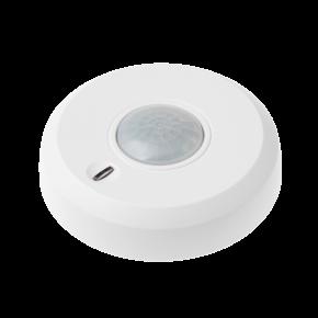LUPUSEC - 360° Bewegungsmelder    Einfache Montage   Funk 360° Bewegungsmelder für die LUPUSEC Smarthome Alarmanlage  Der LUPUSEC-XT 360° Bewegungsmelder reagiert auf jede Veränderung des Temperaturfeldes. So alarmiert er Sie zuverlässig bei Bewegungserkennung in Ihren Räumlichkeiten. Der 360° Bewegungsmelder wird an der Decke befestigt und erfasst unter sich einen 360° Bereich mit max. 12 Meter Durchmesser. Somit eignet er sich ideal für die unauffällige und lückenlose Überwachung von Eingangsbereichen, Korridoren oder Lobbies. In einer Höhe von 2.7 bis 4 Meter ist er vor Sabotage sicher und hat gleichzeitig einen optimalen Überblick auf den zu schützenden Bereich. Der durch einen Mikroprozessor gesteuerte Wärmefeldsensor passt sich an die jeweiligen Gegebenheiten optimal an (Adaptive Digital Signal Processing) um Fehlalarme zu verhindern.  Richten Sie dabei den Melder nicht auf Wärmequellen wie Heizungen oder Fensterfronten / Wintergarten. Verwenden Sie hierfür nur unseren Dualway-Bewegungsmelder (ArtNr. 12034).  Der 360° Bewegungsmelder ist wie alle Sensoren ebenfalls batteriebetrieben, verfügt über eine Sabotageerkennung an der Hinterseite und wird per Funk an die Alarmanlage angebunden. Daher kann er einfach an jeder Wand oder Decke Ihrer Wahl geklebt oder geschraubt werden. Befestigungsmaterial sind im Lieferumfang inbegriffen. Kabel zur Signalübertragung oder eine Stromversorgung per Netzteil sind NICHT notwendig. Einfach den Bewegungsmelder über die Zentrale mit dem Alarmsystem verbinden und einrichten.