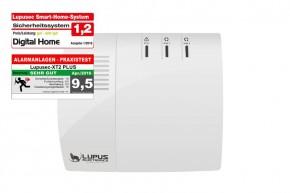 LUPUS XT2 Zentrale XT2 Plus jetzt mit 240 Meldern !!    Die LUPUSEC XT2 Zentrale hat einen Nachfolger, die LUPUSEC XT2 Plus. Sie ist die neue Funk IP Alarmanlage von LUPUS-Electronics, eines der modernsten Systeme für Gebäudesicherheit und Smart Home-Steuerung. Mit Ihrem neu entwickelten Prozessorkern verwaltet die neue LUPUSEC XT2 bis zu 240 Gefahrenmelder in zwei getrennt schaltbaren Alarmkreisen. Jeder Alarmkreis hat zusätzlich 4 getrennt schaltbare Zonen für maximale Flexibiltät. So können auch große Gebäude mit einem einfachen System schnell und kosteneffizient gegen Einbruch, Feuer, Gas und Wasser abgesichert werden. Die LUPUSEC XT2 Alarmsystem ist schnell einzurichten, einfach zu bedienen und überall jederzeit zugriffsbereit - ganz einfach per Computer, Tablet oder Smartphone, über die revolutionär übersichtliche Benutzeroberfläche der LUPUSEC-XT2. Sie möchten unterwegs den Alarmstatus kontrollieren? Oder Alarmzonen einzeln an- oder ausschalten? Oder einfach nur kontrollieren, ob alle Türen und Fenster geschlossen sind? Kein Problem, ein Blick auf z.B. Ihr Smartphone genügt und Sie können in Ruhe weiter Ihren Tag genießen. Für das LUPUSEC XT2 Smart Home Alarmsystem ist eine große Anzahl von Alarmsensoren erhältlich. So können Sie Tür- und Fenstersensoren, Bewegungsmelder, Videoüberwachung, Glasbruch-, Rauch- und Feuermelder, Gas- und Wasserdetektoren oder Temperatursensoren mit wenigen Klicks mit Ihrer Alarmanlage verbinden. Alle Sensoren sind durch ein hoch entwickeltes Funksystem mit der Alarmanlage verbunden und alarmieren zuverlässig, sobald sich der Status eines Sensors ändert. Das heißt auch, dass Sie keine Kabel für Strom oder Signale verlegen müssen.  Für umfangreiche Smart-Home Automatisierungsfunktionen sorgt eine flexible Funktionsbelegung der Melder: Beispiele:   Wenn Sensor X auslöst führe Befehl Y aus. Wird die Haustür geöffnet, schaltet sich automatisch das Licht im Eingangsbereich an und alle Enternainmentgeräte (StandBy) bekommen wieder Strom